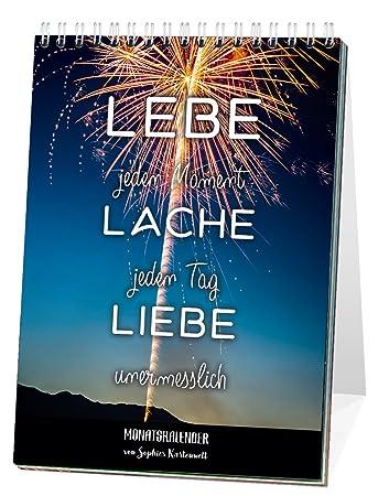 Monats Tischkalender 2018 Mit Sprüchen Leben Jeden Monat