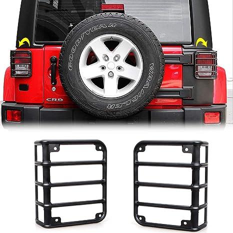 Black JeCar Tail Light Guard Metal Rear Light Protector Cover for 2007-2018 Jeep Wrangler JK /& Unlimited Sports Rubincon Sahara