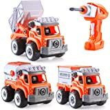 INSOON 3 in 1 Take Apart Toy Cars with Electric Drill Remote Control Vehicles Toys for 4 5 6 7 Year Old Boys…