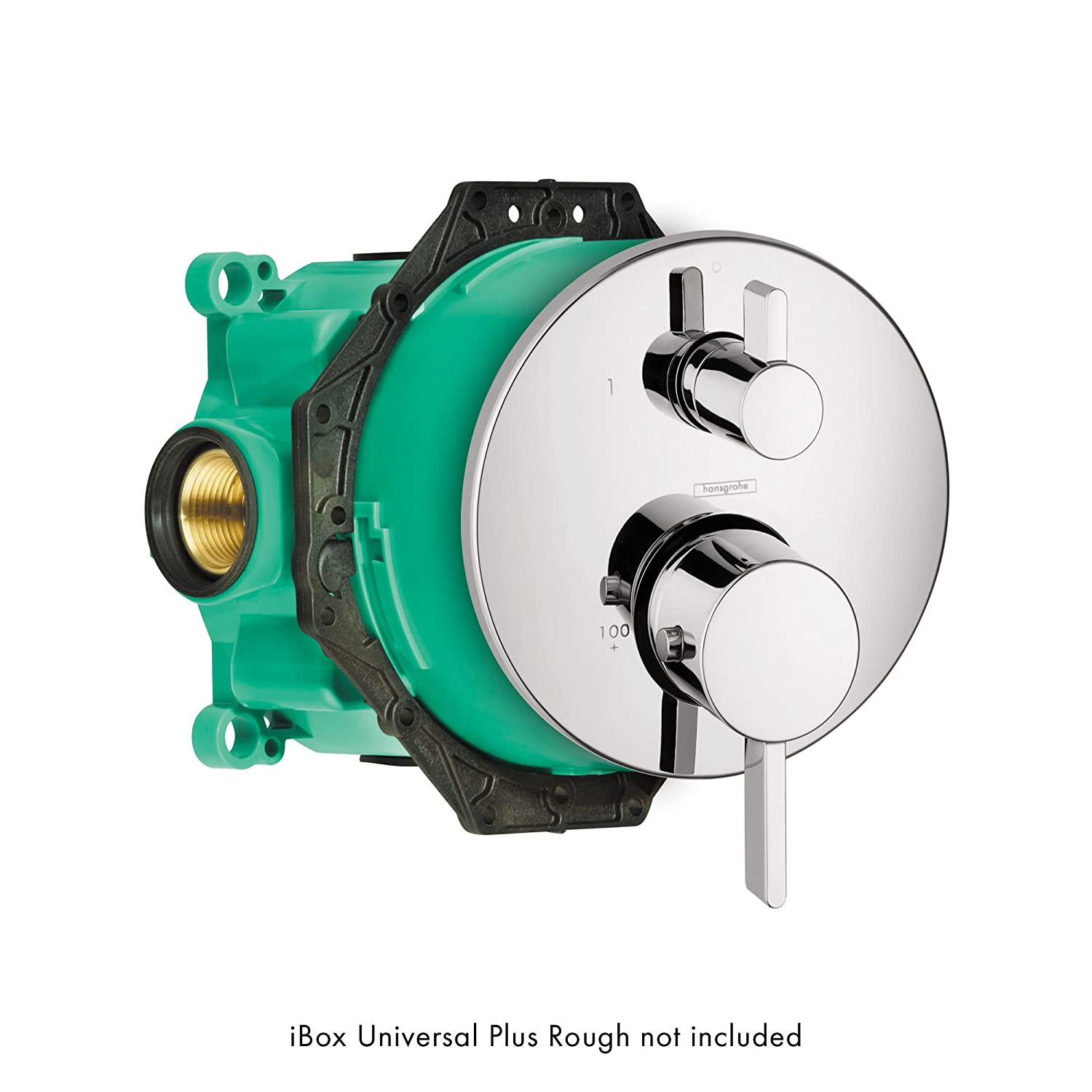 Hansgrohe Ibox Universal Leak Preventing Valve Rough In With Service Stop For Standard Shower Trims Hg01850181
