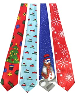 Christmas Tie.Amazon Com Mens Christmas Ties For Men Necktie Holiday