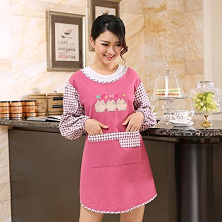 Apron GUO YUN Professional Quality Kitchen Long Sleeves