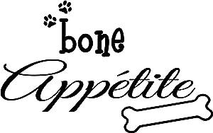 Bone Appetite Cute Puppy Dog Wall Art Wall Sayings