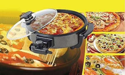 Pizza pan antiadherente sarten electrica Ø 40cm termostato 240º max 1500W