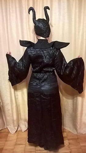 Amazon.com: ailisen Película Maléfica Costume Mujeres ...
