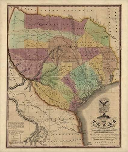 Map Of Texas 1835.Amazon Com Historic Map Map 1837 Of Texas With Parts Of The