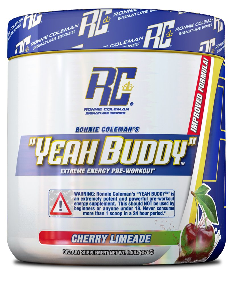 Ronnie Coleman Signature Series Yeah Buddy 30 Serve Pre-Workout Supplement, Cherry Limeade, 240 Gram