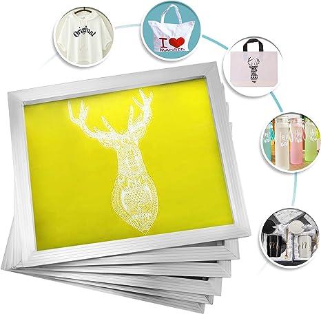 VEVOR Silk Screen Frame 12 Pieces Aluminum Silk Screen Frame 20x24 Inch Silk Screen Printing Frame with Yellow 230 Count Mesh