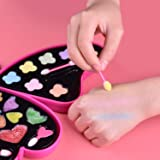 Little Girls Makeup Set and Nail Art, Kids Washable Makeup Kit with Mirror All-in-one Fully Beauty Fashion Kit
