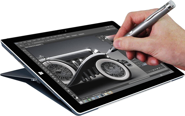 // Lenovo YOGA Tablet 2 8-inch Windows Navitech Grey Fine Point Digital Active Stylus Pen Compatible With Lenovo Yoga Tablet 10 HD+ // Lenovo YOGA Tablet 2 10-inch // Lenovo YOGA Tablet 2 Pro Android