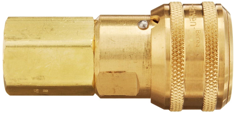 1//2 Port Size Eaton Hansen 5200BVSL192 Brass Interchange Pin Lock Pneumatic Fitting 1//2 Body EPDM Seal 1//2-14 NPTF Female Sleeve Lock Socket with Brass Valve