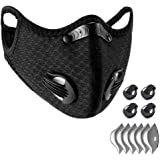 WISREMT Cycling Face Mask, Nylon Spandex Activated Carbon Windproof Dust-Proof Lightweight Breathable Quick Dry Outdoor…