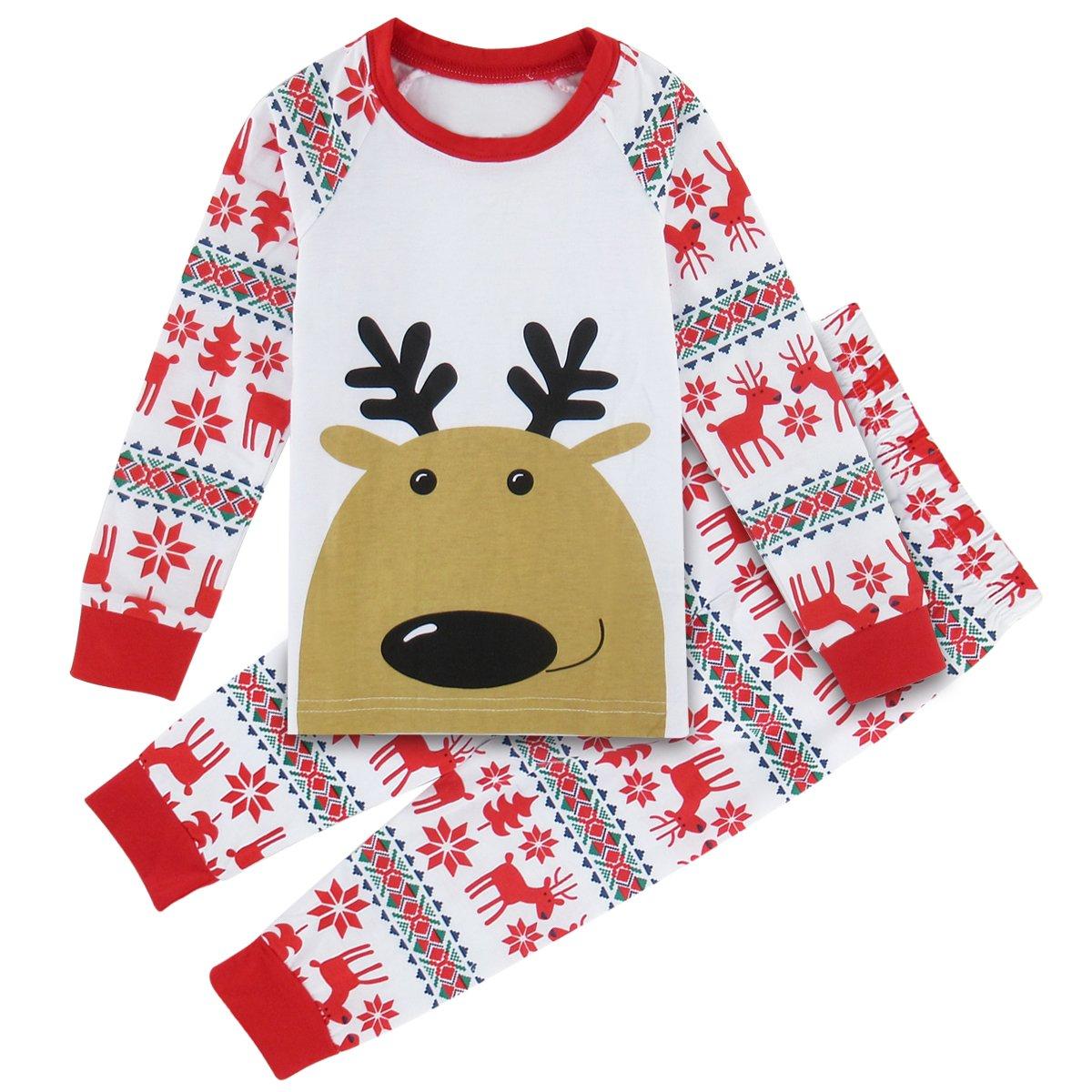 A& J Design Baby Elk Deer Cute Pajamas Sleepwear 2PCs Sets
