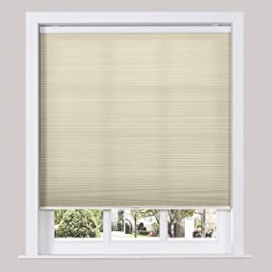 TWOPAGES Room Darkening Cordless Cellular Shades for Windows, Custom Made Cellular Honeycomb Blinds Privacy UV Protection Cellular Window Shades, Cement