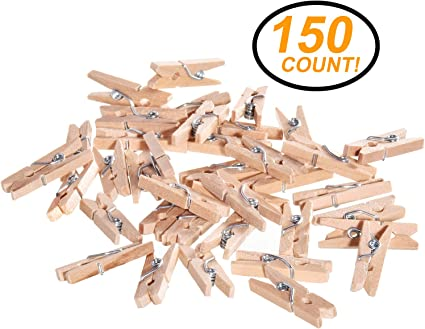 100pcs Mini Wooden Pegs party Favour Clip Plain Party Decoration
