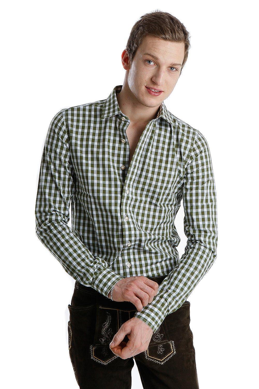 Almsach Trachtenhemd oliv slim fit
