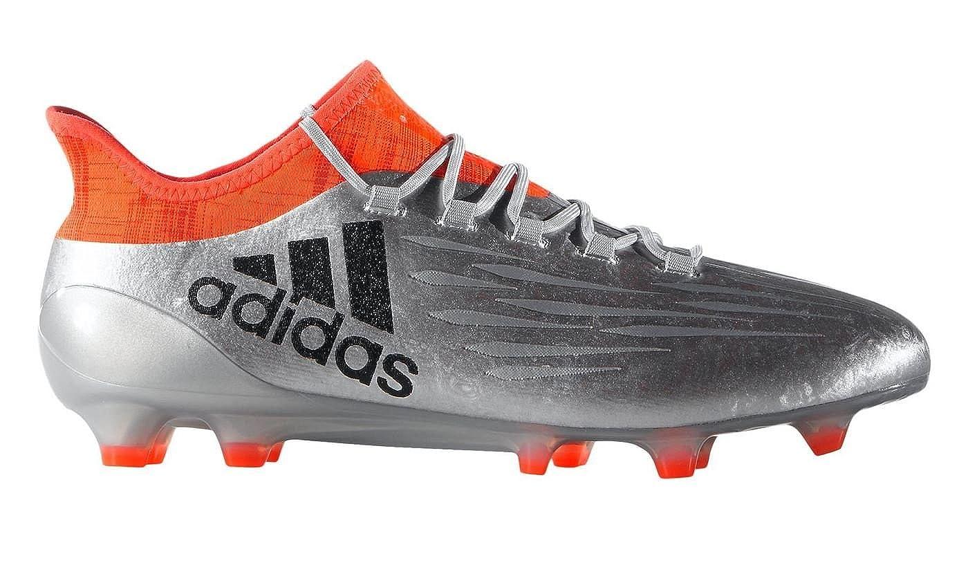 87212b1924f48b Amazon.com | adidas X 16.1 FG Football Boots - Adult - Silver Met/Core  Black/Solar Red - | Soccer