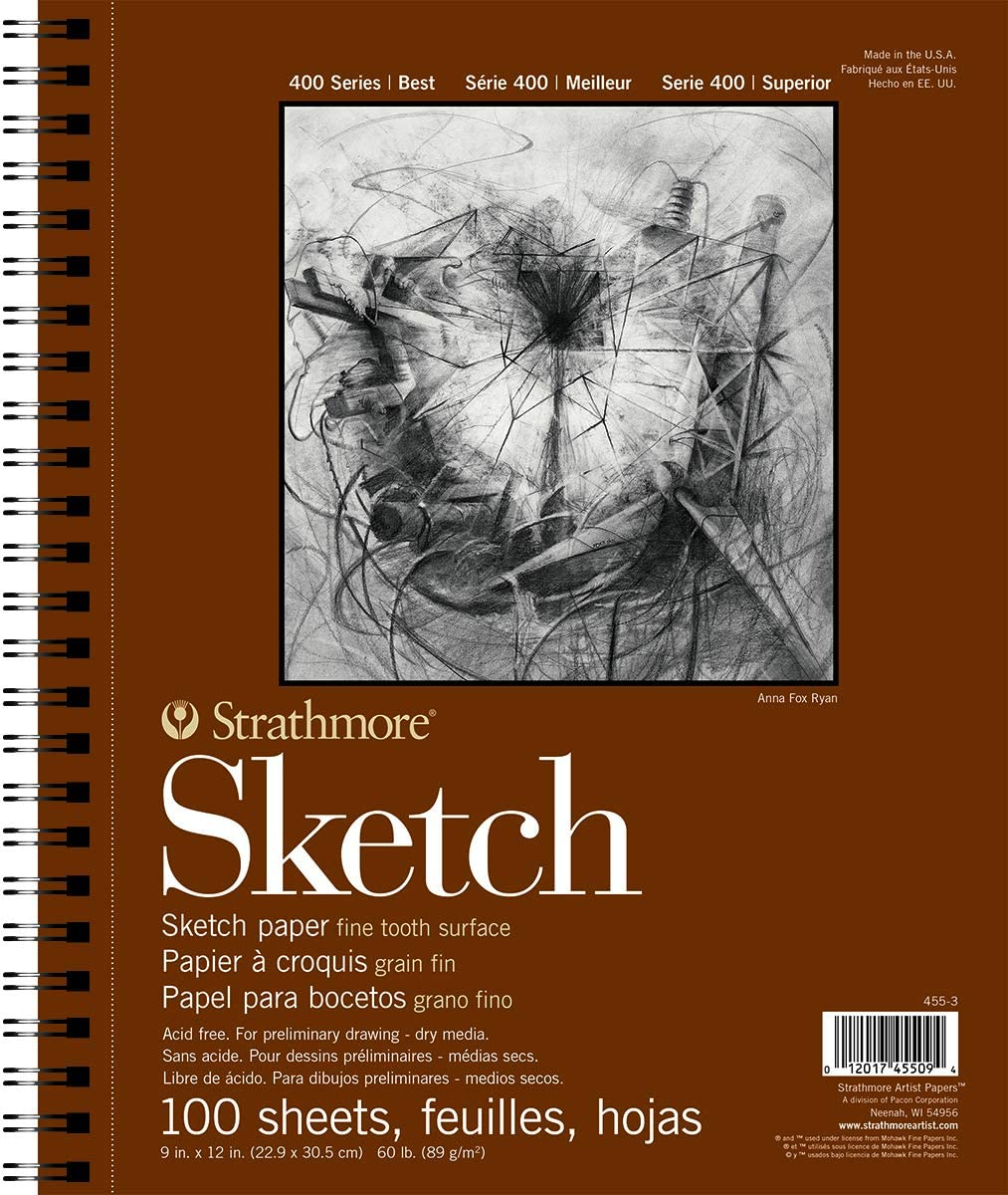 Strathmore 455-3 400 Series Sketch Pad Wire Bound