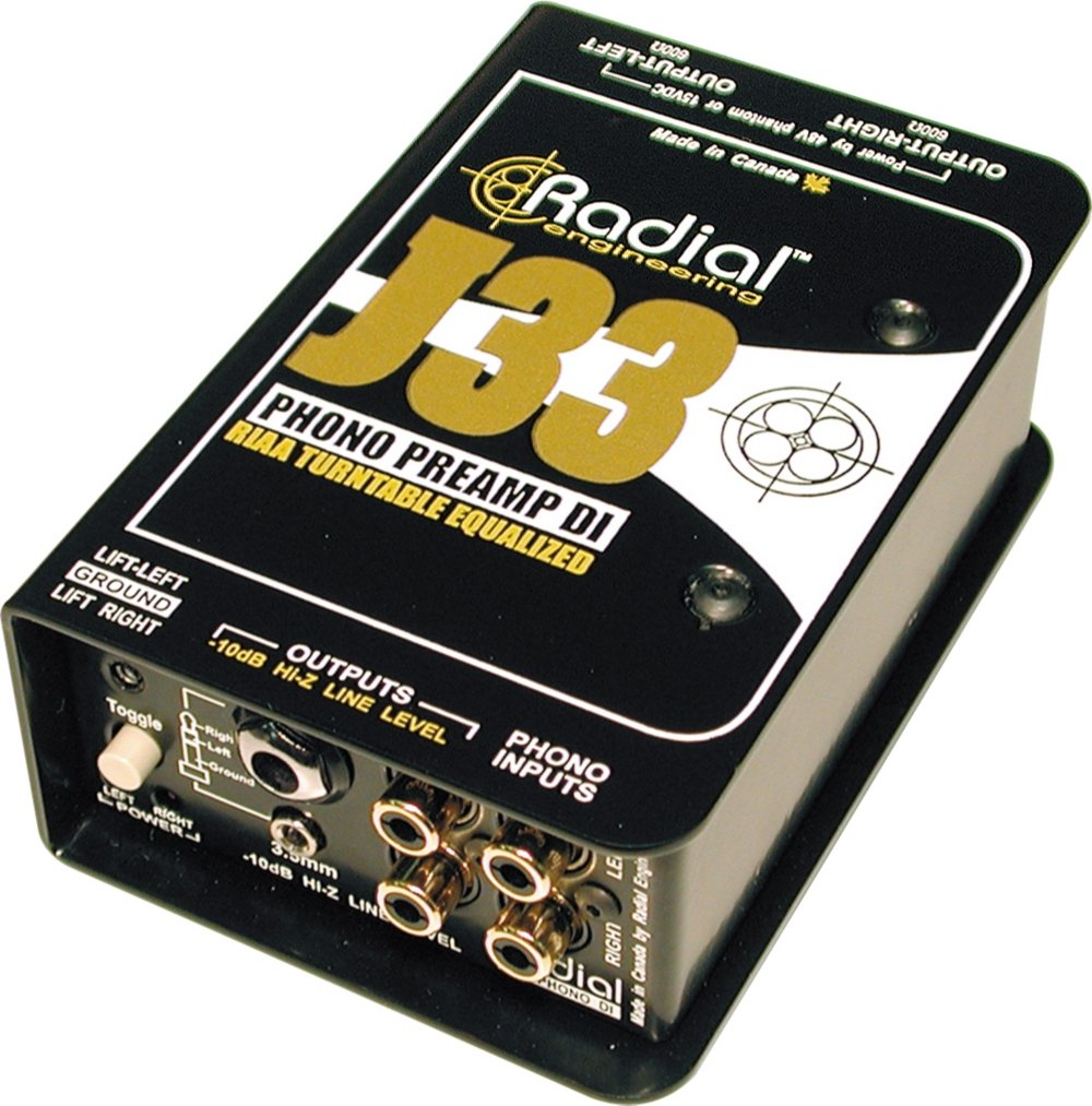 Radial J33 2-channel Active Turntable Preamp/Direct Box