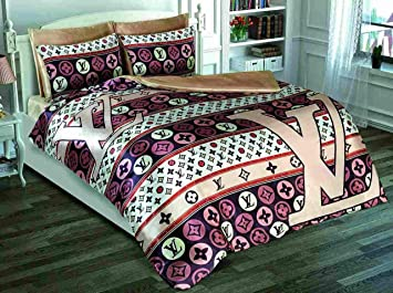 Louis Vuitton 4 Piece Bed Set Amazon Co Uk Kitchen Home