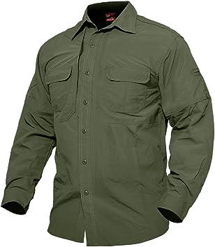 Camiseta de manga larga transpirable, de MAGCOMSEN, de secado rápido, para pesca, trabajo, viajes, uso militar: Amazon.es: Deportes y aire libre