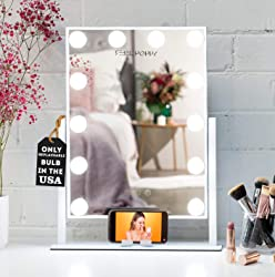 Rebel Poppy Vanity Mirror With Lights and Phone Mount