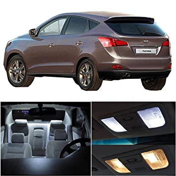 cciyu 10 unidades blanco LED bombilla LED Interior luces accesorios paquete de repuesto para 2017 Hyundai