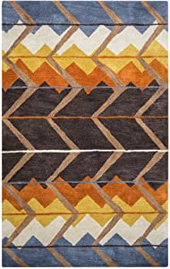 Rizzy Home Tumble Weed Loft Hand-Tufted Area Rug 5 Ft. X 8 Ft. Multicolored