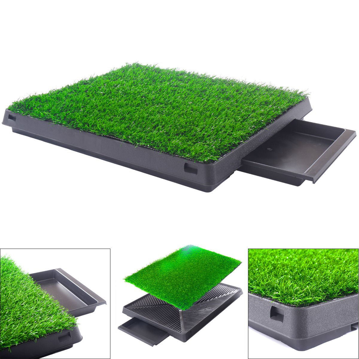 OlimP-Shop Dog Potty Home Training Toilet Pad Grass Surface Pet Park Mat Outdoor Indoor