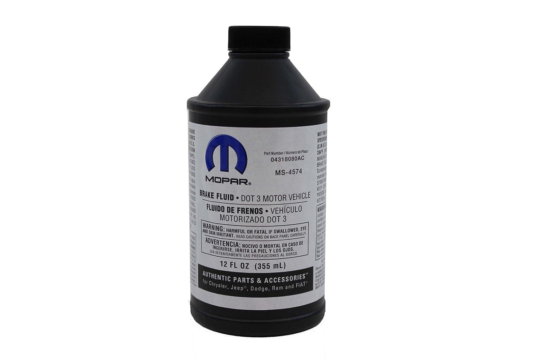 Genuine Mopar Fluid 4318080AC DOT 3 Motor Vehicle Brake Fluid - 12 oz. Bottle Chrysler 4318080AD