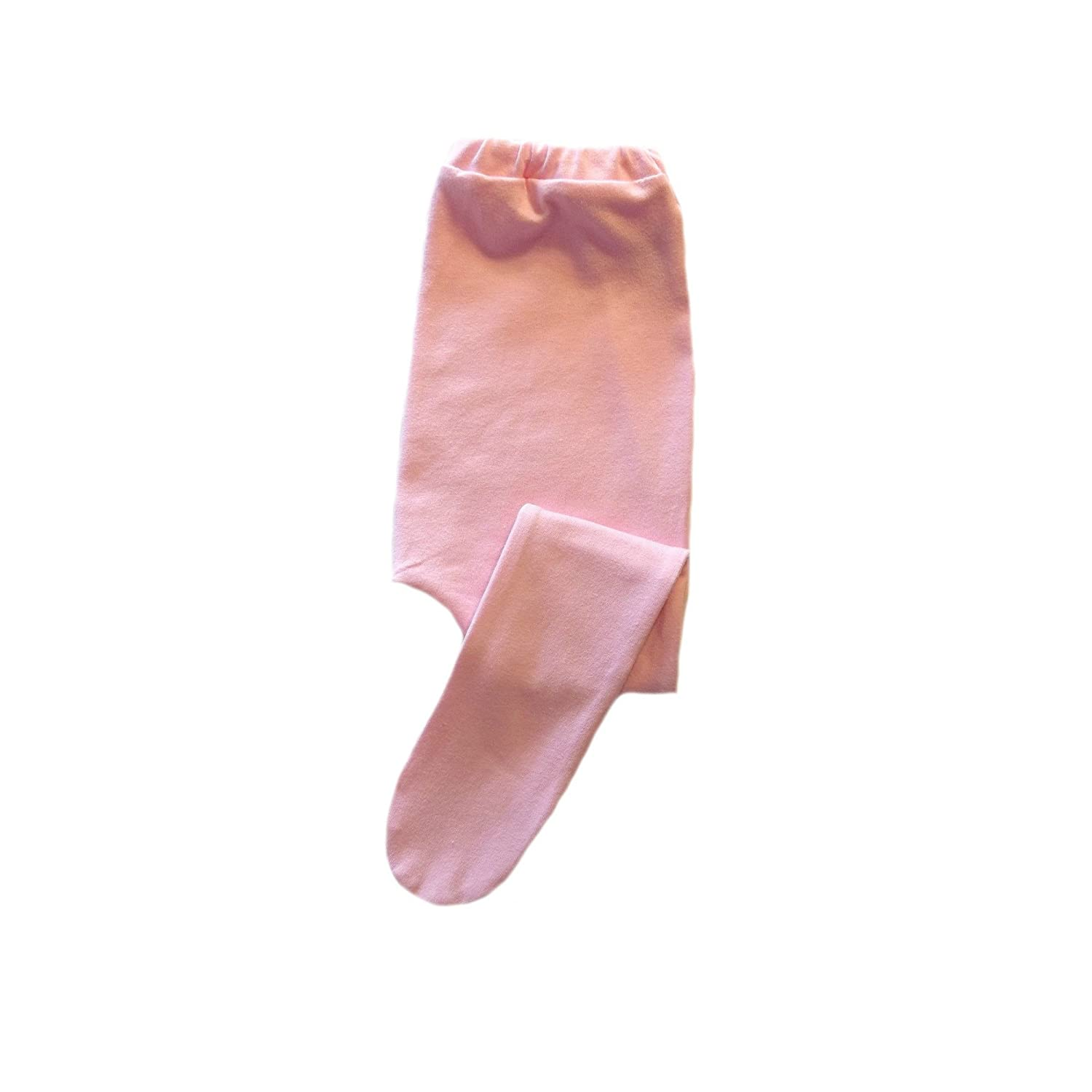 Jacquis Baby Girls Pink Cotton Lycra Knit Tights