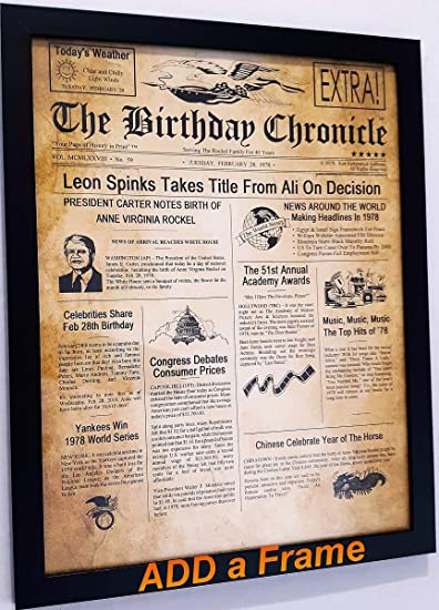 photograph regarding Free Printable Birthday Chronicle named The Birthday Chronicle What Took place upon The Thirty day period/Yr Yourself were being Born? Birthdates versus 01/01/1900 in the direction of 12/31/2016 (Letter Dimension 8.5 inches X 11 inches Aged