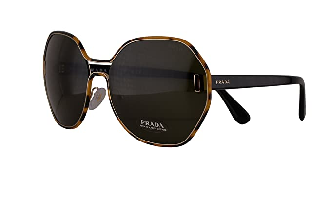 eaefbcd101 Image Unavailable. Image not available for. Colour  Prada PR53TS Sunglasses  Pale Gold Havana w Green 63mm Lens ...