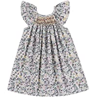 GLIGLITTR Kids Baby Girls Summer Casual Dresses Toddler Floral Print Sundress Princess Dress for 1-4 Years Old