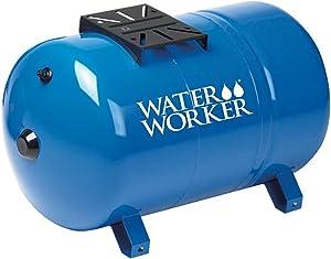 WaterWorker HT20HB Water Worker Ht-20Hb Horizontal Pre-Charged Well Tank, 20 Gal, 1 In Mnpt, 100 Psi, Steel, 20-Gallon