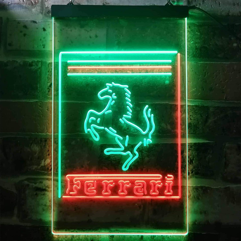 Together Ferrari Sport Car Novelty Led Neon Sign Amazon De Küche Haushalt