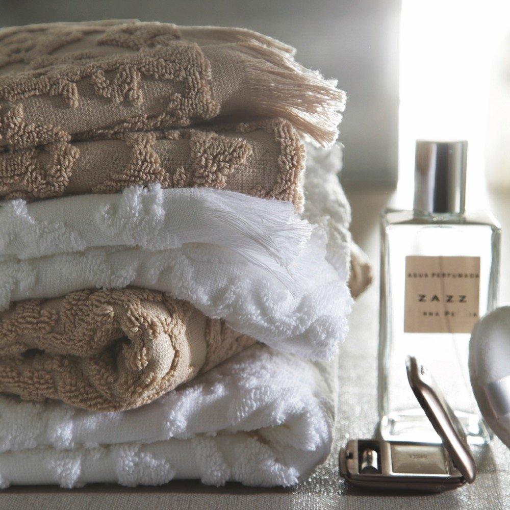 Blanc des Vosges princesa toalla de ducha (algodón, 140x 70cm), color blanco FRANCOIS HANS Princesse