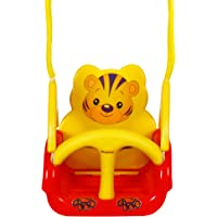 WonderKart Panda Baby Swing - With Multiple Age Settings | 4 Stages - (Red)