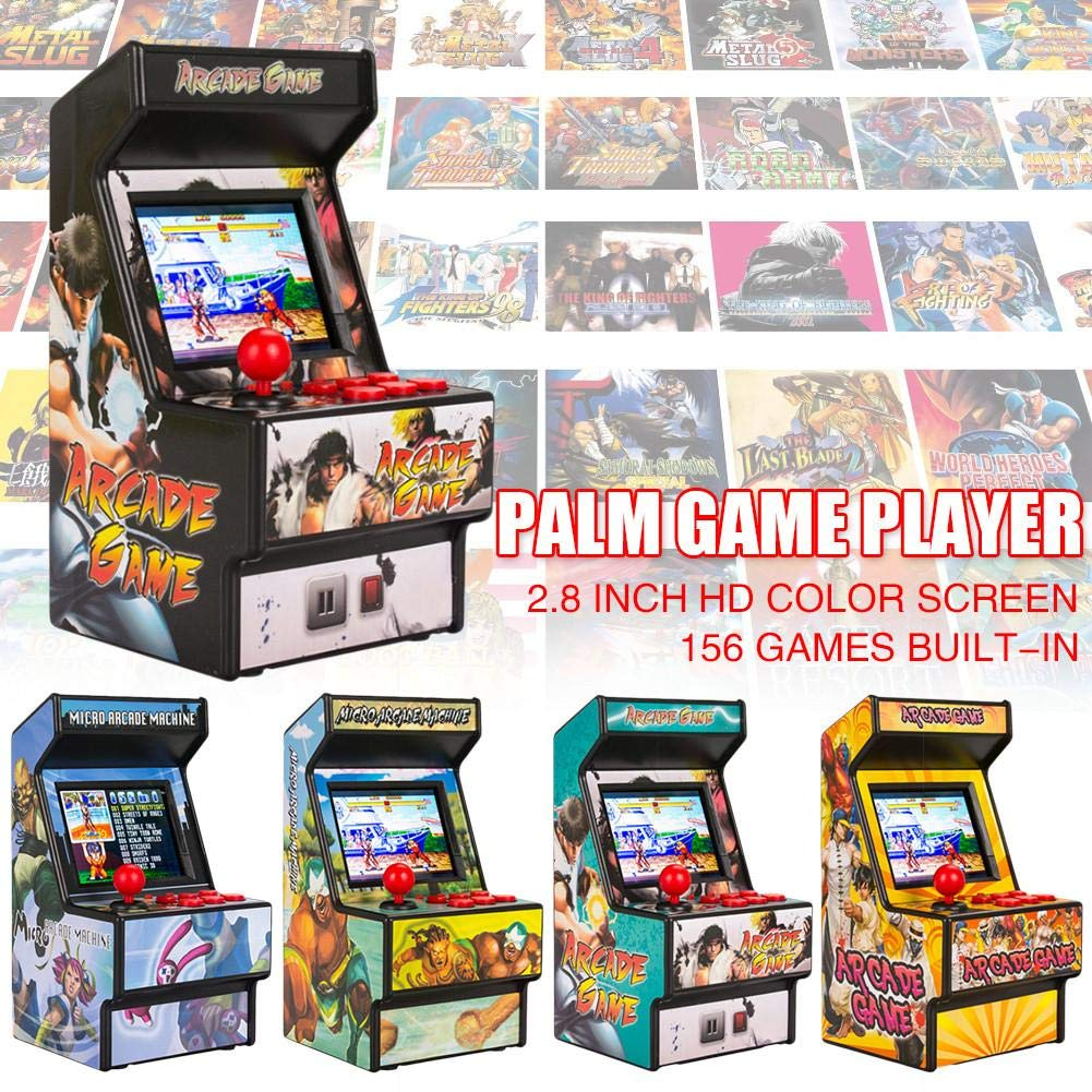 Yunn 2.5' TFT Mini Handheld Arcade Game Retro Machines for Kids with 156 Built-in Games,16 Bit Console New Street Fighter Home Arcade by Yunn (Image #4)