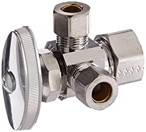 Brasscraft CR1901LRX C1 1/2-InchNom Comp by 3/8-InchODComp by 3/8-InchODComp Dual Outlet Stop Lead-Free, Chrome