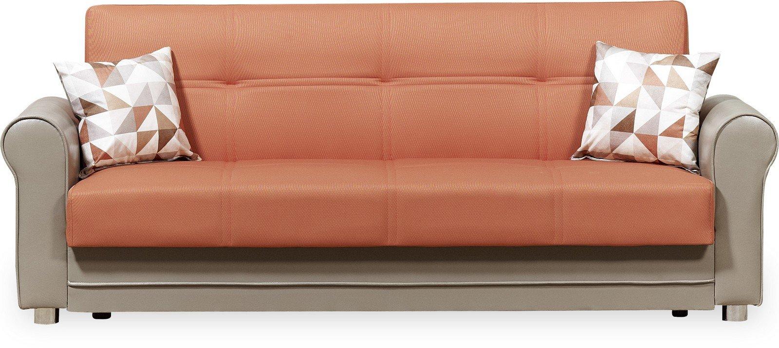 Casamode Avalon Plus Sofa Bed Prusa Orange Polyester