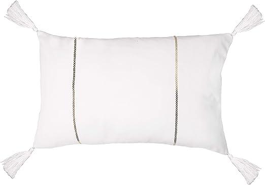 Febronie - Funda de cojín, algodón, Color Blanco, única: Amazon.es: Hogar