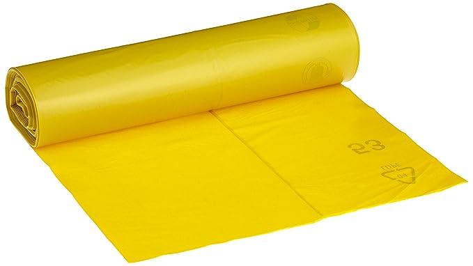 60 L, 32 unidades color amarillo Bolsas de basura con tiras de cierre pely 8531