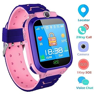 SZBXD - Reloj Inteligente para niños, con Pantalla táctil, Reloj Despertador SOS, Reloj