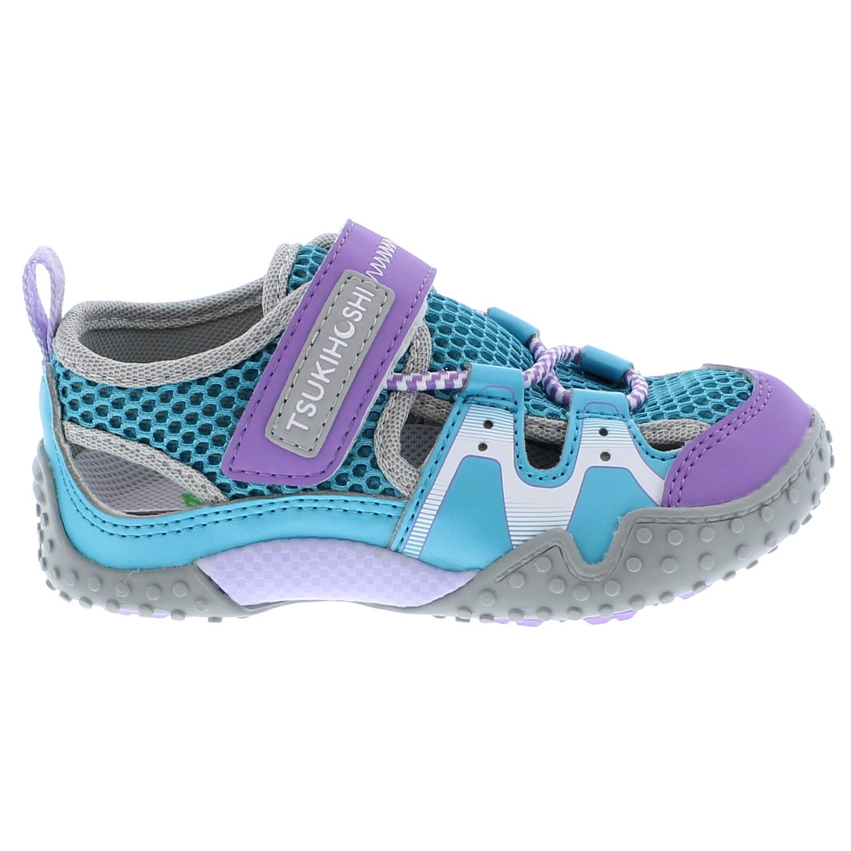 TSUKIHOSHI Kids Girls Ibiza2 Toddler//Little Kid Turquoise//Lavender Quick-Dry Sneaker