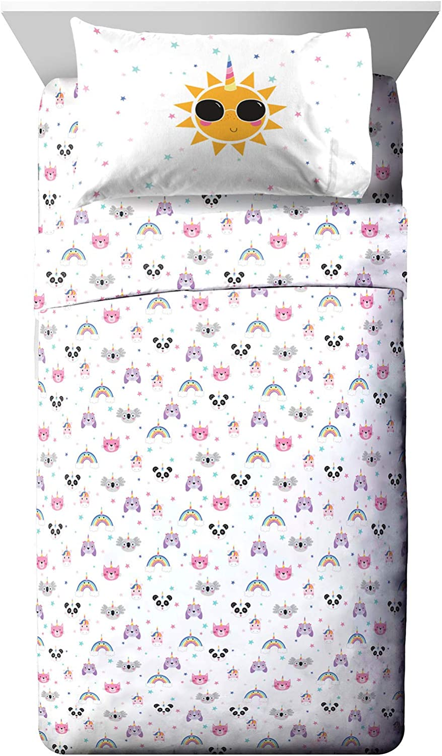 Jay Franco Trend Collector Unicorn Squad Full Sheet Set - 4 Piece Set Super Soft and Cozy Kid's Bedding - Fade Resistant Microfiber Sheets