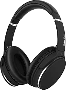 Noise Cancelling Headphones Real Over Ear,Wireless Lightweight Srhythm Durable Foldable Deep Bass Hi-Fi Stereo Bluetooth Headset with Mic and Wire for TV, PC, Cell Phone- Low Latency(Black)