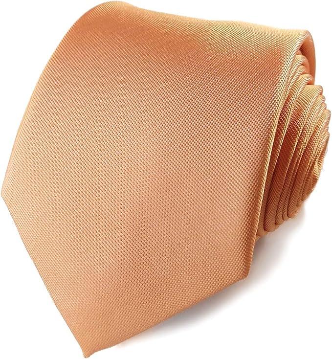 Corbata de color naranja claro, corbata de color naranja y crema, corbata de calabaza, corbata de mandarina, corbata de otoño, corbata de otoño, corbata de novio naranja, corbata de boda otoñal: Amazon.es: