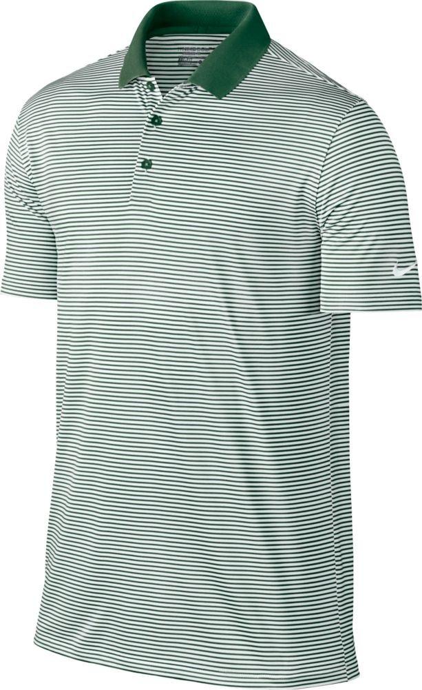 Nike Victory Mini Stripe Men's Golf Polo (Gorge Green/White, Small)