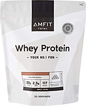 Marca Amazon - Amfit Nutrition Proteína de Suero de Leche en Polvo 1kg - Chocolate (anteriormente PBN)